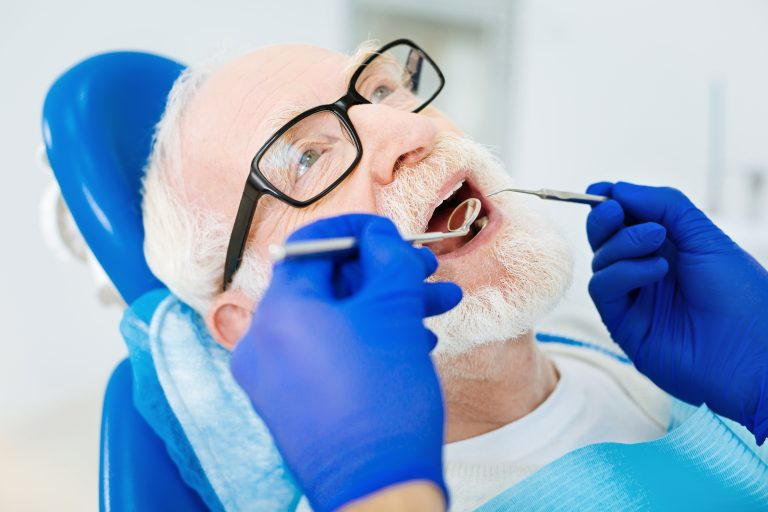 Close Up Of Patient Having Dental Session